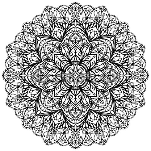 Vector, ornate mandala.